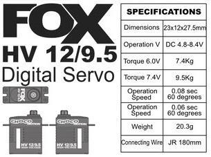 FOX HV 12/9.5 - 9.5 kg CHOCOmotion
