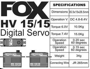 FOX HV 15/15 - 15.0 kg CHOCOmotion