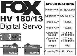 FOX HV 180/13 - 13.0 kg CHOCOmotion