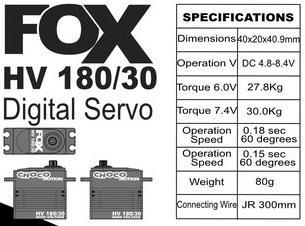 FOX HV 180/30 - 30.0 kg CHOCOmotion