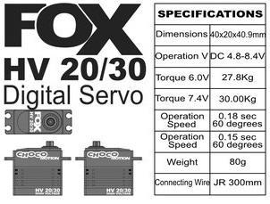 FOX HV 20/30 - 30.0 kg CHOCOmotion