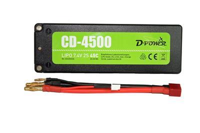 CD-4500 2S Lipo (7.4V) 45C, T-Stecker