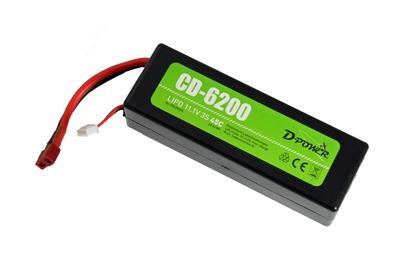 CD-6200 3S Lipo (11.1V) 45C, T-Stecker