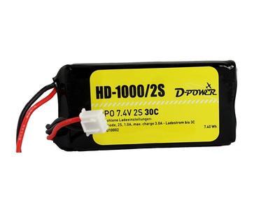 HD-1000 2S Lipo (7.4V) 30C, BEC Stecker