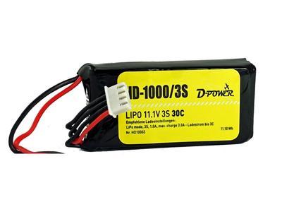 HD-1000 3S Lipo (11.1V) 30C, BEC Stecker