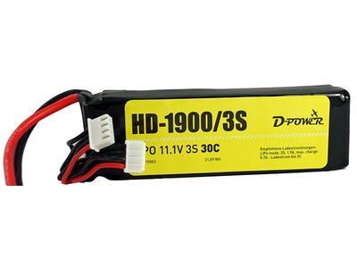 HD-1900 3S Lipo (11,1V) 30C