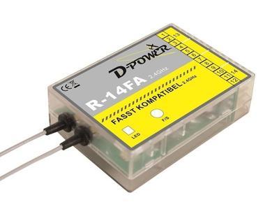R-14FA - 2.4 GHz Empfänger FASST kompatibel