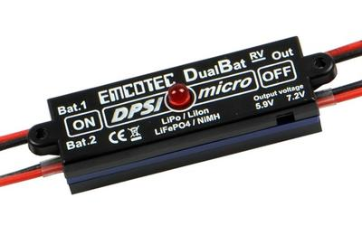 DPSI Micro DualBat 5.9V/7.2V MPX