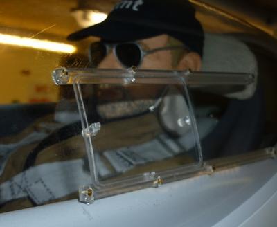 Schiebefenster für Segelflugzeuge 1:2.5