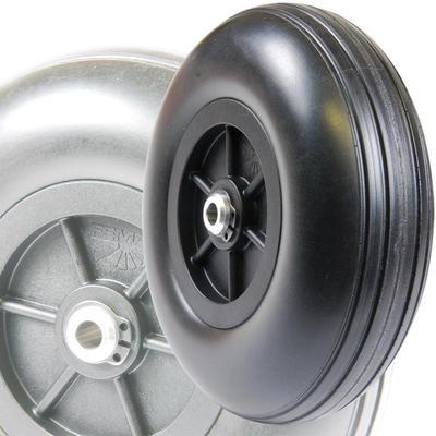 100 mm, Rad mit GFK-Felge und Alu-Nabe
