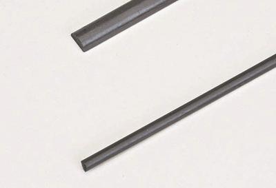 Kohlefaser-Halbrundstab 3x1000 mm