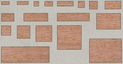 Balsavierkantleisten 3x3 mm