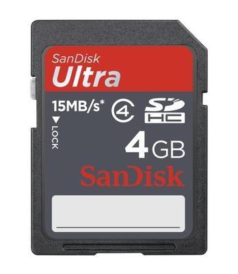 SD Karte SDHC Ultra 4 GB