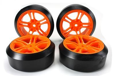 1/10 Drift montiert, 45°-5 Spoke orange Felgen