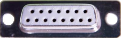 Sub-D Buchse 15-polig, vergoldet