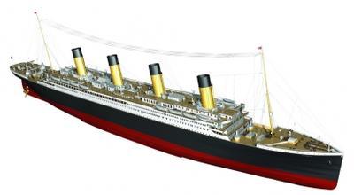 RMS Titanic komplett 1:144