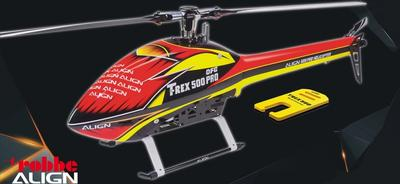 Speed Rumpf T-Rex 500E, rot-gelb