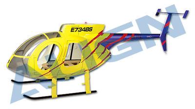 Rumpf T-REX 600 500E, gelb-lila