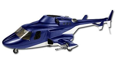 Rumpf T-REX 500 AirWolf, blau