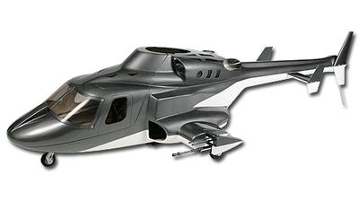 Rumpf T-REX 500 AirWolf, grau
