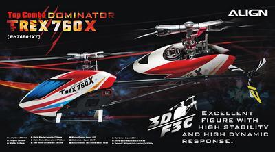 T-Rex 760X 3D TOP Super Combo BEASTX