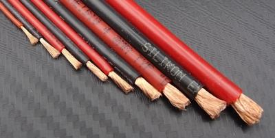 Silikon-Litze 1.0 mm, rot / schwarz