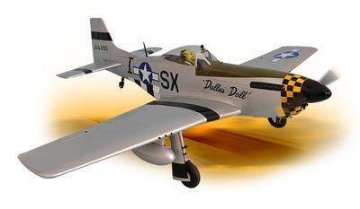 P-51 Mustang 50-60cc - 219 cm, ARF