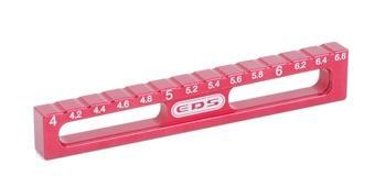 Ausfederlehre von 4.0 bis 6.6 mm in 0.2 mm Schritten