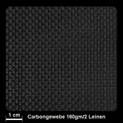 Kohlefasergewebe 160gr. Leine / Lm.