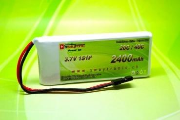 LiPo 1S 3.7V 2400mAh 20C/40C JR