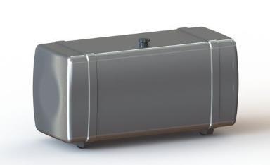 1:14 Tank 120mm silber mit Tankhalter