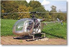 Rumpfbausatz Alouette II, Turbine