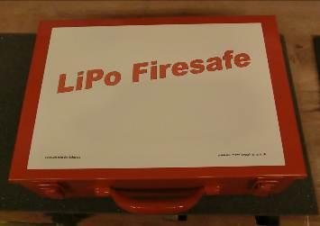LiPo-Firesafe Typ 01, 340x260x110 rot