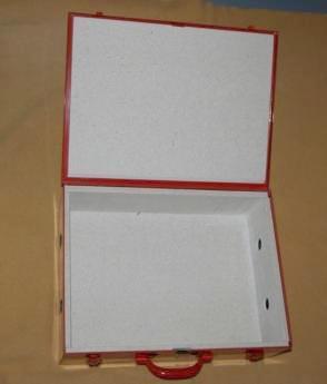 LiPo-Firesafe Typ 02,  450x380x135 rot